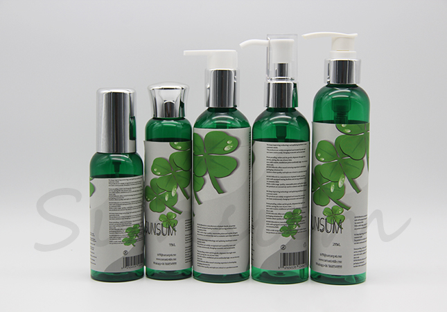 Labeling Cosmetic Color Pet Plastic Bottle