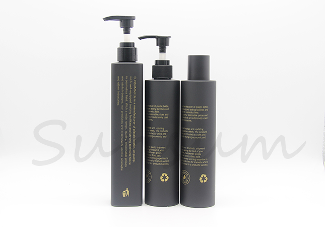Black Matte Set Cosmetic Lotion Bottle