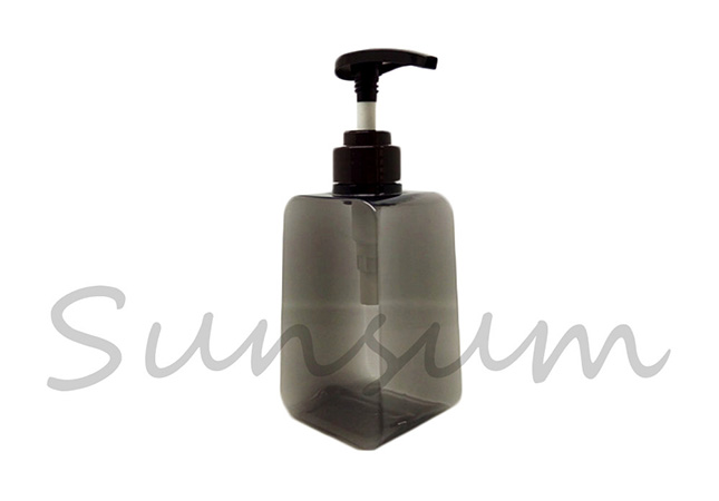 PETG Plastic Square Soap or Shampoo Bottle