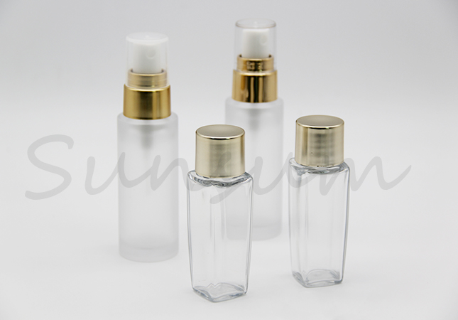 Pet Plastic Golden Small Capacity Cosmetic Lotion Bottle
