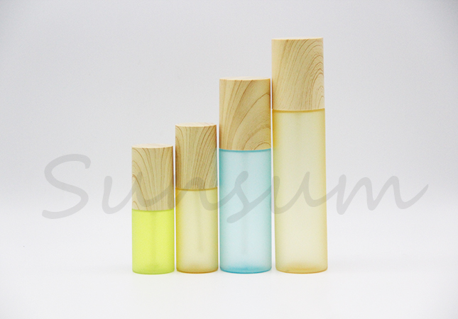 Wooden Cap Cosmetic Frosted Hair Spray Bottle