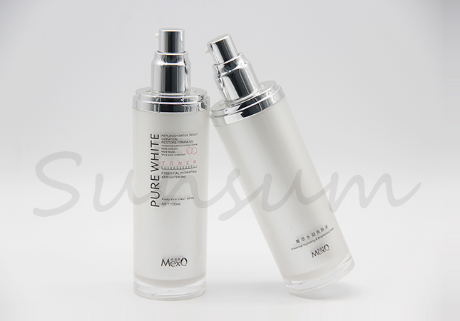 Luxury Silver Pump Sprayer Cosmetic Skin Care Bottle