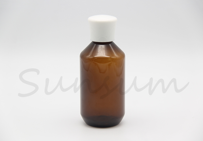 Amber Color Toner Water Lotion Body Care Mushroom Cap Cosmetic Bottle