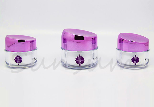 Acrylic Double Wall Cosmetic 50g Free Sample Cream Jar