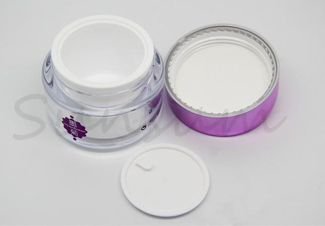 Acrylic Double Wall Cosmetic 50g Free Sample Cream Jar
