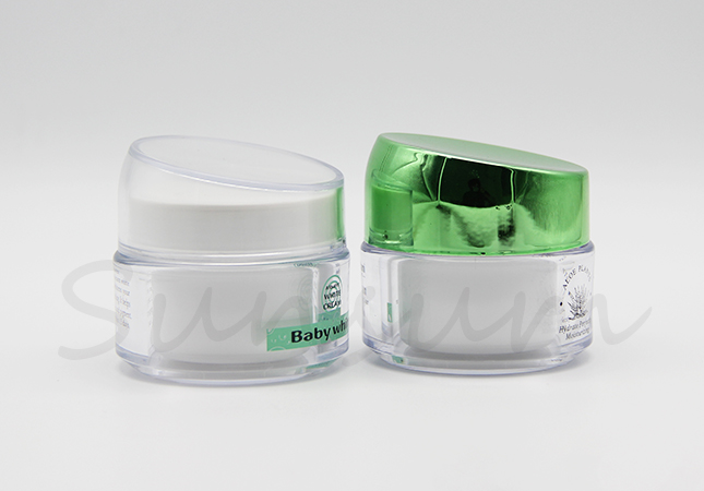 Acrylic Transparent Empty Luxurious Cosmetic Cream Jar