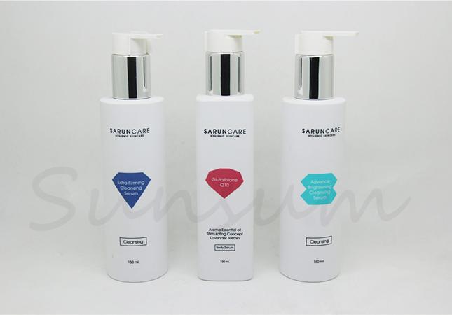 150ml Silver Lotion Pump Shampoo Packaging Custom Bottle