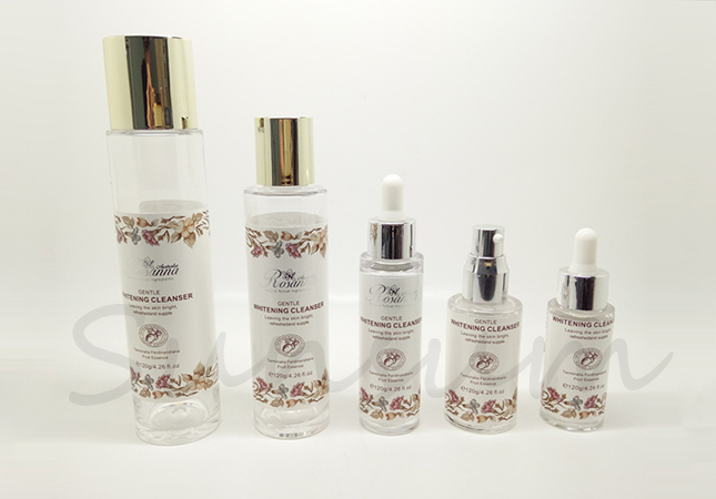 Set Thick Cosmetic Transparent Label Lotion Bottle for Sale