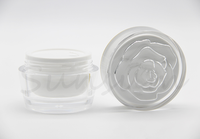 30g 50g Acrylic Cosmetic Lotion Golden Ring Flower Top Cap Cream Bottle