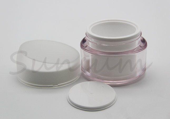 Guangzhou Manufacturer Color Acrylic Pot Cosmetic Cream Jar