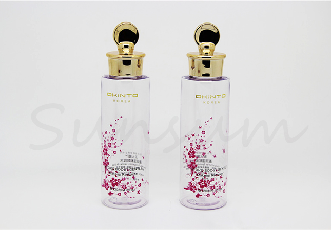 100ml Silk Screen Printing Lotion Toner Water Cosmetic Bottle