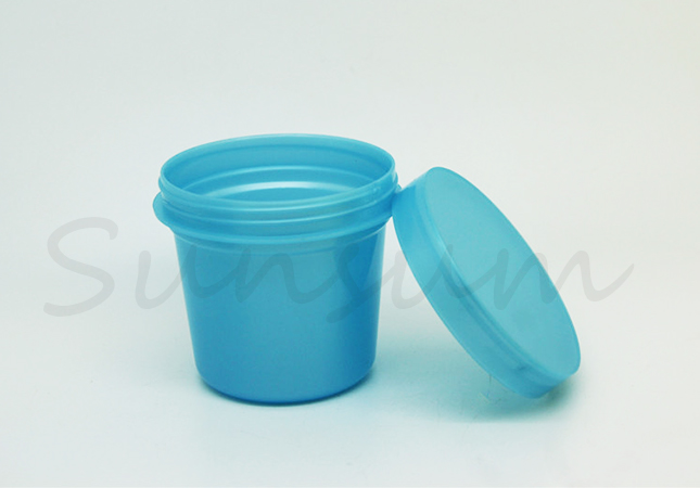 Blue Yellow Green Color Cosmetic Hair Mask Cream Jar