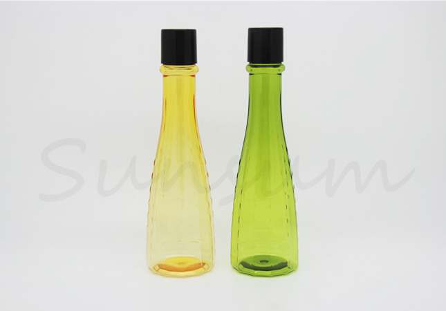 Round Cosmetic PET Plastic Lotion Care Unique Shape Lotion Bottle