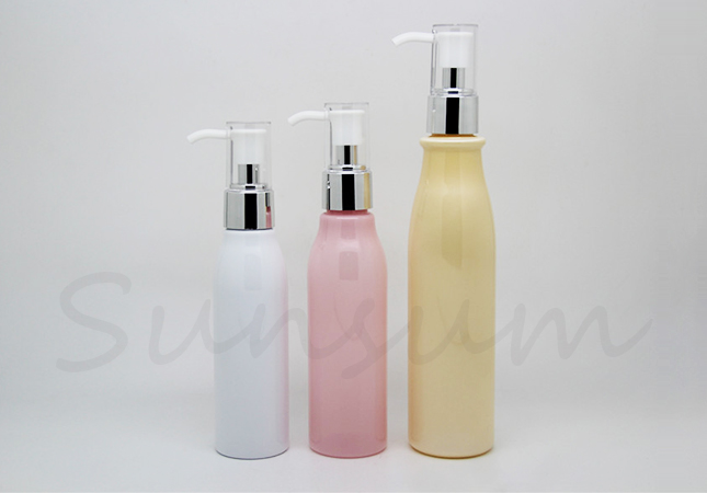 White Pink Orange Color Hair Care Mask Lotion Pump Bottle