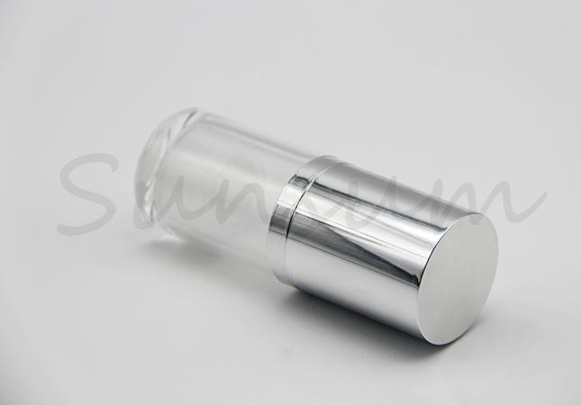 Empty Vacuum Pump Cosmetic Liquid Bottle