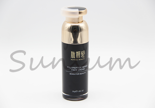 Golden Airless Pump Cosmetic Lotion Vacuum Custom Bottle