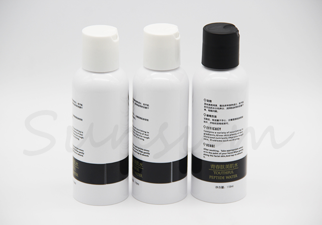 PET Cosmetic Toner Water Skin Care Press Lid Cream Bottle 110ml