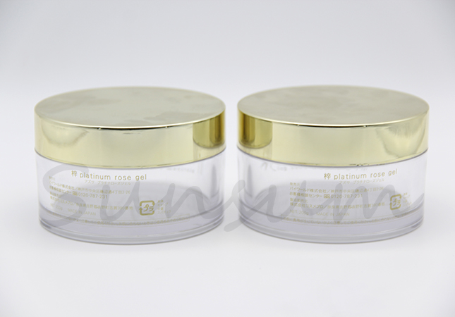 PETG Plastic Cosmetic Golden Screw Cap Cream Jar