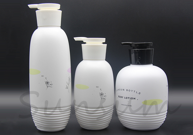 Set PE Plastic Cosmetic Shower Gel Baby Skin Care Shampoo Bottle