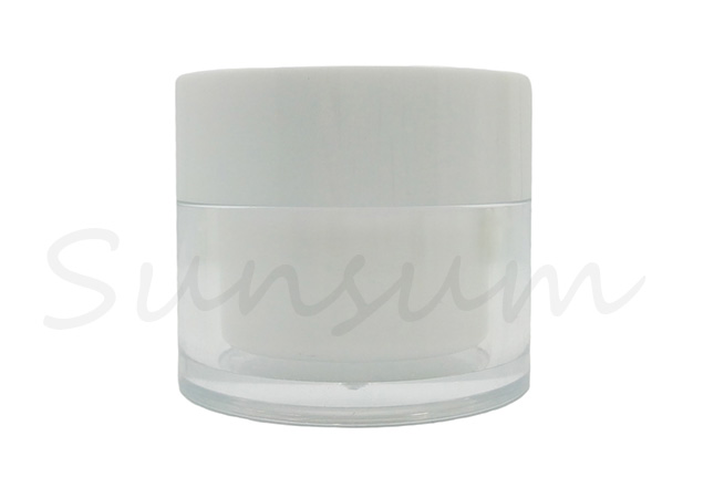 Double Wall Cosmetic  Plastic Pot Skin Care Cream Jar with 50g