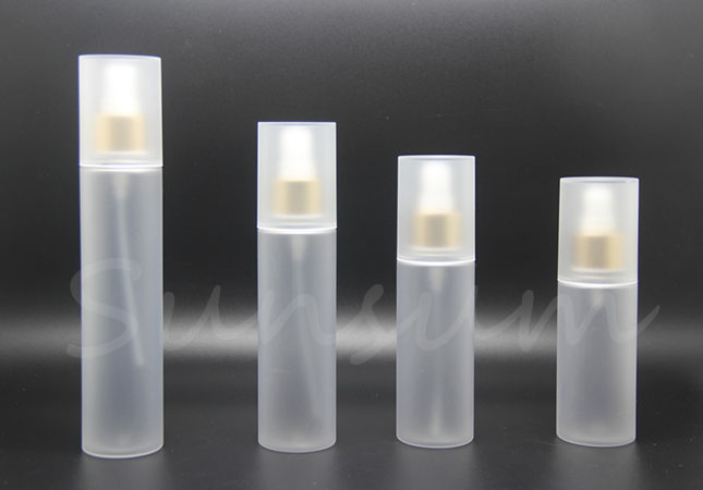 Transparent Frosted Lotion Pump Spray Cosmetic Luxury Bottle