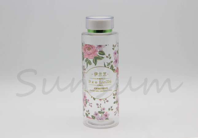 Cosmetic PET Plastic Water Transfer Printing Toner Water Bottle