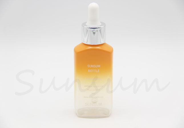 Unique PET Plastic Cosmetic Lotion Liquid Dropper Bottle
