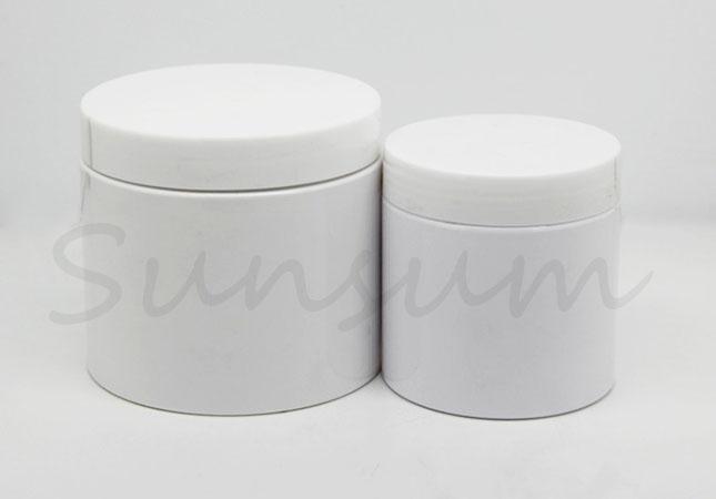 200ml 400ml PET Plastic Pot Cosmetic Facial Mask Jar