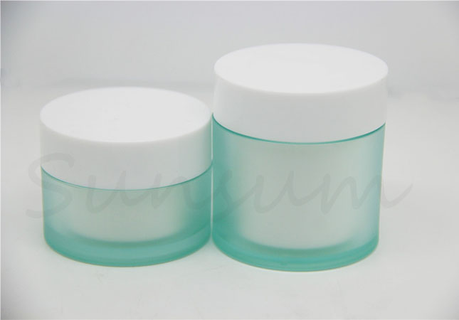 Frosted Facial Mask Pot Plastic Double Wall 30g 50g Jar