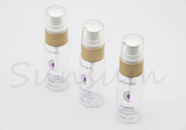 30ml 50ml 100ml Cosmetic Plastic Lotion Golden Pump Cleanser Bottle