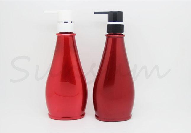 500ml Free Sample Plastic Cosmetic Shower Gel Shampoo Bottle
