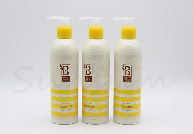 200ml Cosmetic Shampoo Hair Care Plastic Bottle with Label