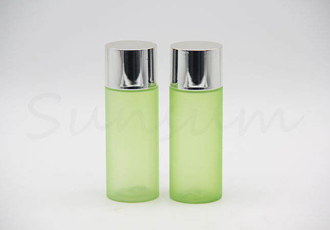 Green Color Toner Water Cosmetic Plastic Facial Care Lotion Bottle