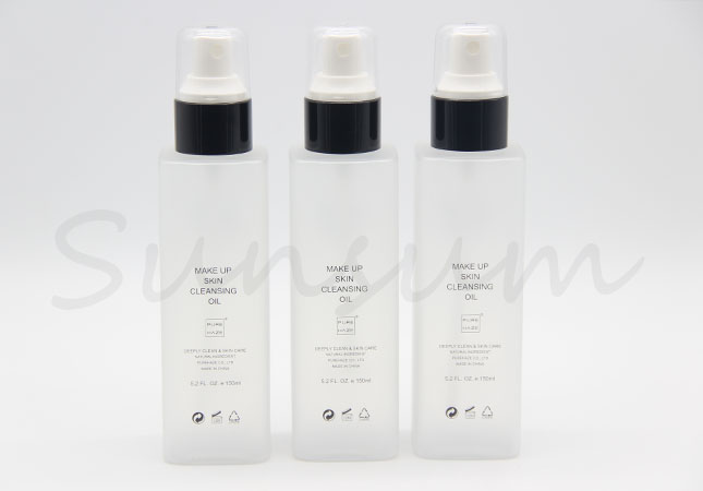 Cosmetic PET Plastic Lotion Spray Oil Liquid Bottle with Frosted