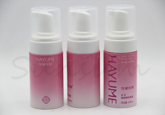 100ml Cosmetic Foam Soap Lotion Facial Cleaner Bottle