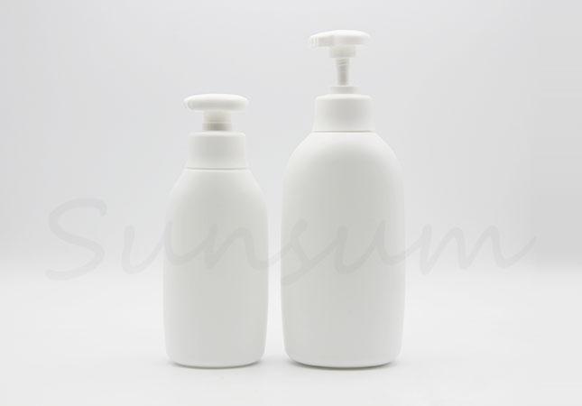 PE Plastic Shampoo Shower Gel Cosmetic White Color Bottle