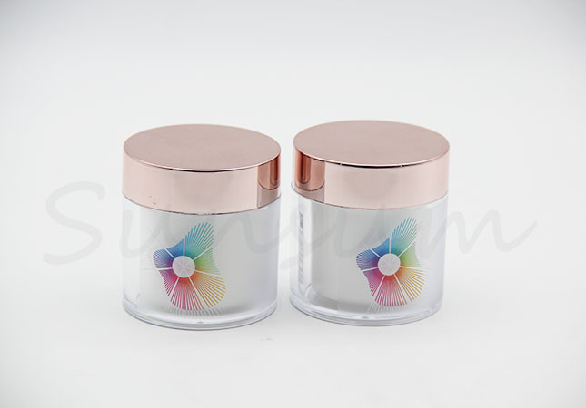50g Double Wall Cosmetic Plastic Facial Mask Jar