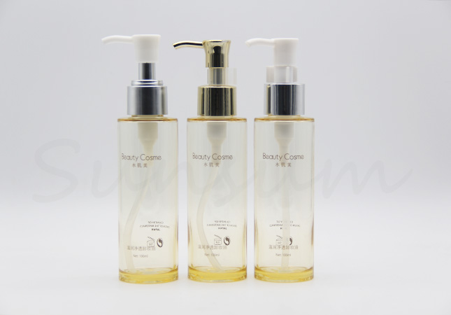 Thick Wall Cosmetic Plastic Silver Pump Shower Gel Bottle