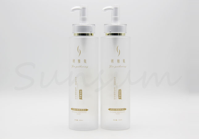400ml Transparent Frosted Personal Care Plastic Cosmetic Bottle