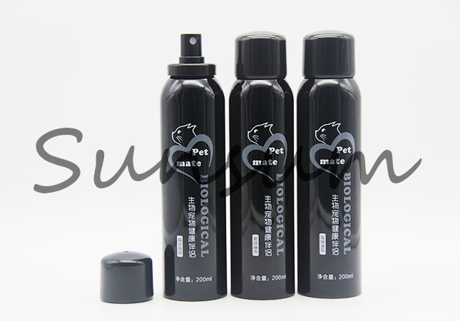 200ml Black Color Cosmetic Spray Pump Packaging Bottle