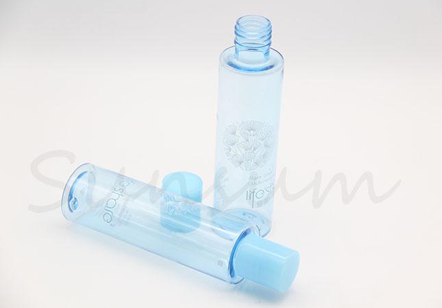 Transparent Blue Color Cosmetic Plastic Toner Water Empty Bottle