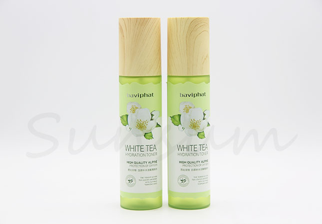 Empty Cosmetic Plastic Lotion Cream Pump Bottle with Label