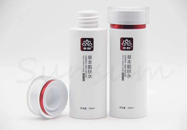 100ml Cosmetic Lotion Skin Care Toner Water Plastic Bottle
