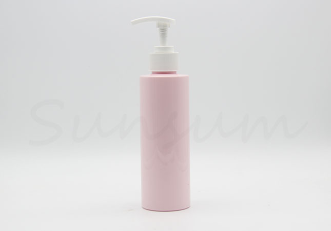 Cosmetic Pink Color Shampoo Shower Gel White Pump Bottle