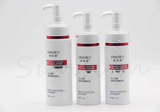 Cosmetic Lotion Skin Care Hot Stamping Plastic Bottle
