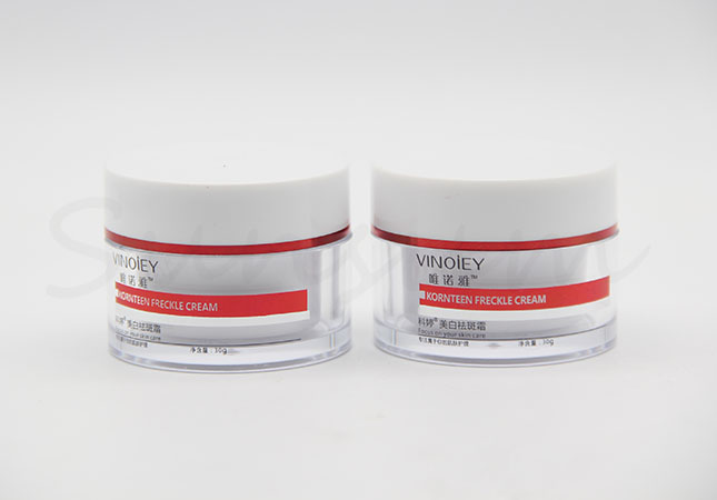 30g Cosmetic Double Wall Facial Cream Jar with Hot Stamping