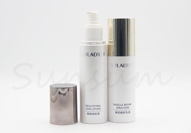 Plastic Cosmetic Skin Care White Pump Lotion Cream Bottle