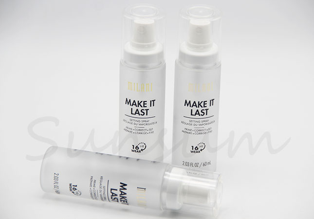Cosmetic Frosted Spray Pump PET Plastic Liquid Cleanser Bottle