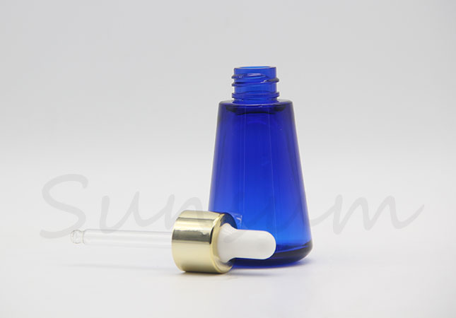 30ml Cosmetic Thick Wall PET Plastic Dropper Essence Oil Bottle