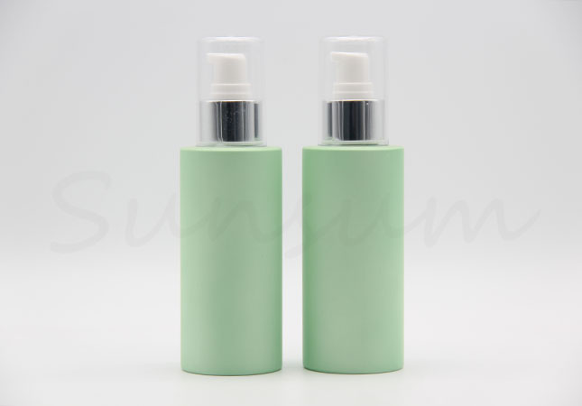 250ml Cosmetic Circular Shape Green Color Pump Spray Bottle